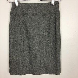 Banana Republic EUC Tweed Pencil Skirt Gray Size 0